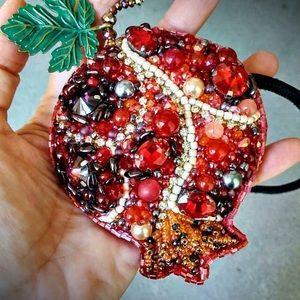 Handmade Pomegranate neck accessory